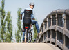 Велокресло Bobike Exclusive Tour Plus + Led 2020 система крепления за раму. Цвет: Urban grey