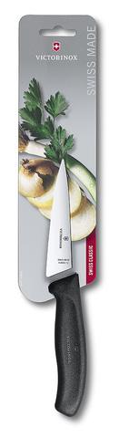 Нож Victorinox разделочный, лезвие 12 см, черный, в картонном блистере
