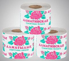 Туалетная бумага «Алматинская», 1рулон