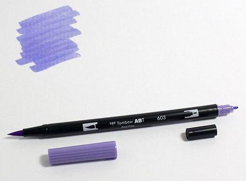 Маркер-кисть Tombow ABT Dual Brush Pen-603, голубой барвинок