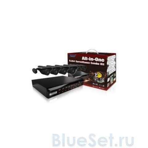 Система видеонаблюдения KGuard NS Series D1 4Ch + 4Cam (NS401-4CW214H)