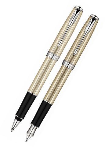 Набор с чехлом: Перьевая и Ручка роллер Parker Sonnet`10 Cisele Decal T535