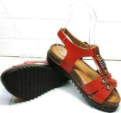 Модные женские сандалии босоножки на ровной подошве Rifellini Rovigo 375-1161 Rad.