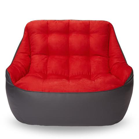 Бескаркасный диван «Босс», Графит и красный