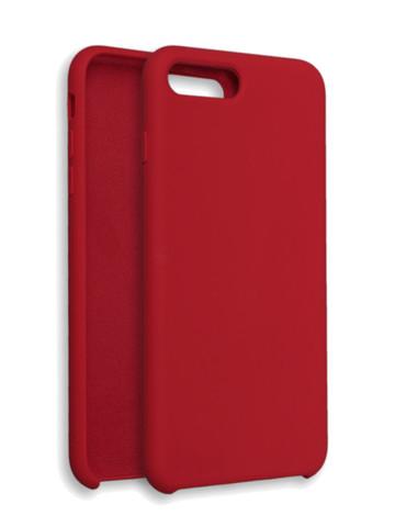 Чехол для iPhone 7/8/SE Софт тач мягкий эффект | микрофибра красный