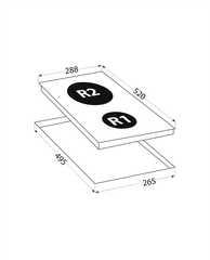 Варочная панель LEX EVH 320 BL - схема