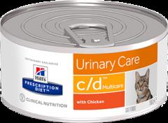Ветеринарный корм для кошек Hill`s Prescription Diet c/d,  здоровье нижних мочевыводящих путей, с курицей