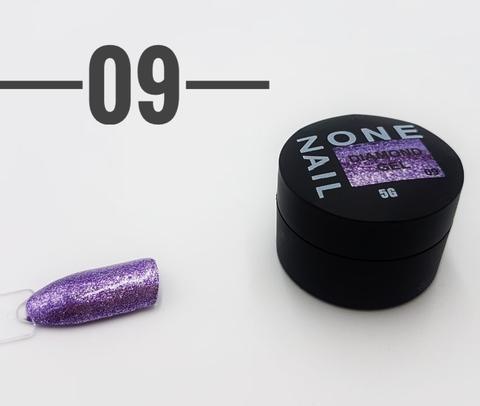 Гель-шиммер ONENAIL Diamond Gel 09 5г
