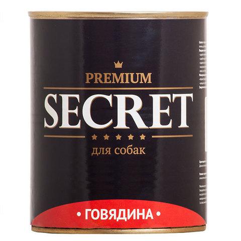 Secret Premium консервы для собак с говядиной.