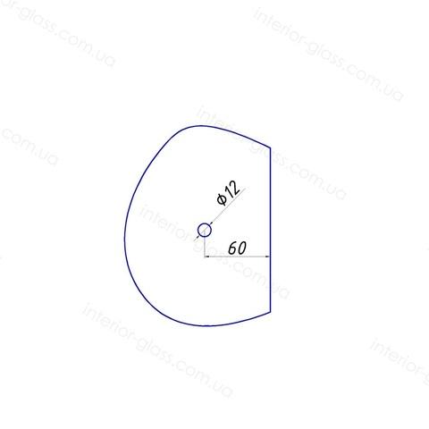 Ручка кноб для душевой HDL-692 BLK чёрная матовая