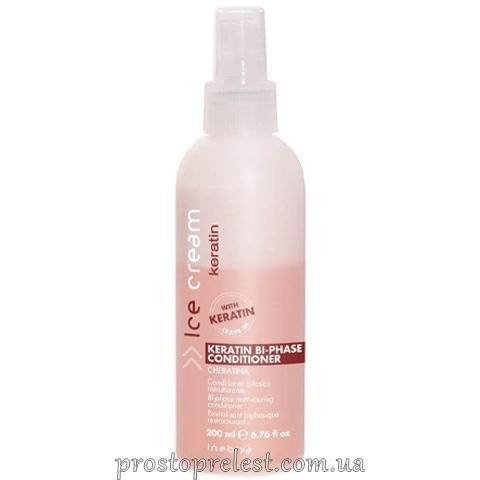 Inebrya Keratin Bi-Phase Conditioner - Спрей-бальзам для сухих волос