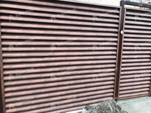 Откатные ворота жалюзи со встроенной калиткой с электроприводом
