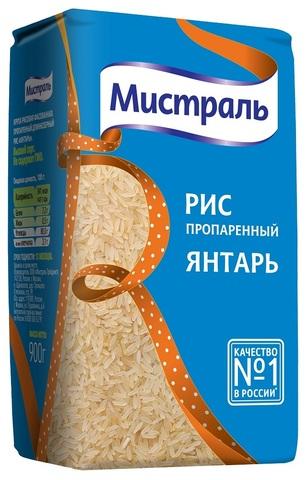 Рис пропаренный Мистраль МИНИМАРКЕТ 0,9кг