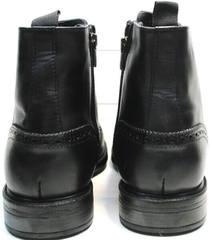 Мужские кожаные зимние ботинки на молнии  LucianoBelliniBC3801L-Black