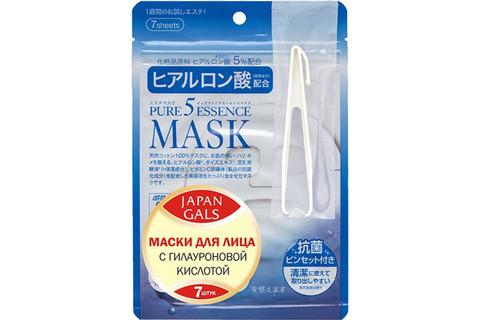 Маска для лица Japan Gals с гиалуроновой кислотой 7 шт