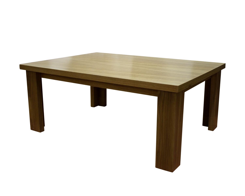 Стол журнальный прямоугольный, опоры массив дуба, столешница МДФ + шпон дуба