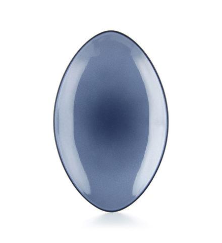 Овальное фарфоровое блюдо Cirrus Blue 35 см, синие, артикул 649556, серия Equinoxe