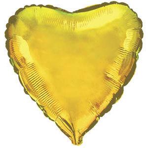 Фольгированный шар Сердце GOLD 18