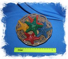 Цветные декоративные морские звезды набор