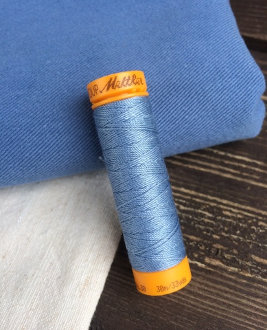Нитки отделочные Mettler Seralon Top-Stich, 1342, голубой