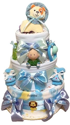 Торт из памперсов для мальчика Санчес