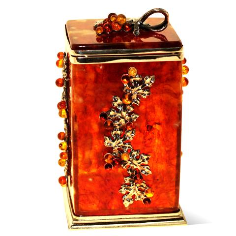Коробочка для чая «Виноград» из янтаря