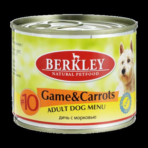 Berkley № 10 Консервы для собак с олениной и морковью