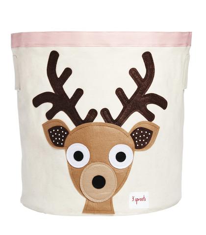 Корзина для хранения 3 Sprouts Коричневый Олень (Deer IBNDEE) 00042/3 Sprouts