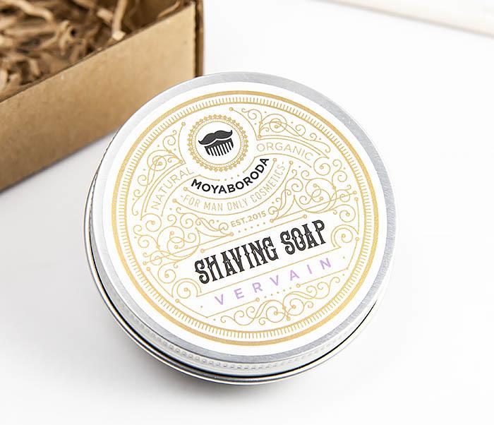 RAZ207-1 Натуральное мыло для бритья «VERVAIN», лимонная вербена (60гр)