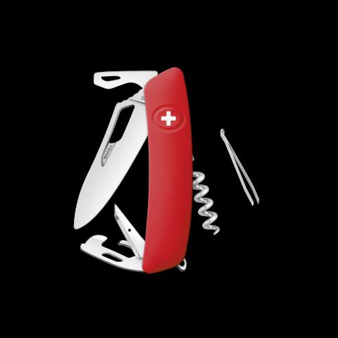 Швейцарский нож SWIZA SH03 R Standard, 95 мм, 11 функций, красный