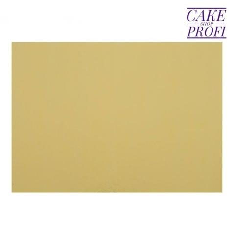 10=10. Подложка для торта 3,2мм (золото/белая) 30х22см. (10шт)