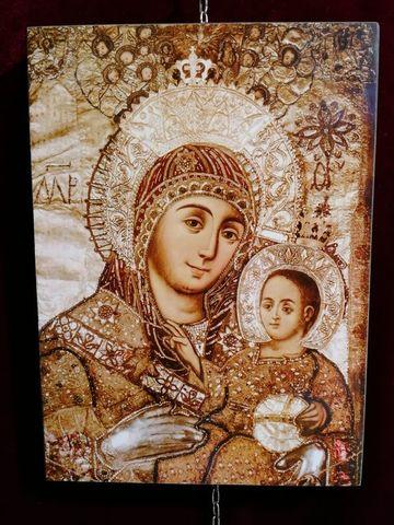 Икона Божией Матери Вифлеемская на дереве на левкасе мастерская Иконный Дом