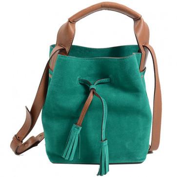 MINI SAXO - Сумка-торба из замши