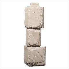 Наружный угол для фасадных панелей FineBer Камень крупный Песочный