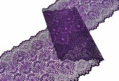 Эластичное кружево, ОПТ, 22 см, фиолетовое, (Арт: EK-2211), м