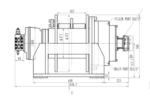 Лебедка свободного сброса IYJ45-200-32-24-ZPL