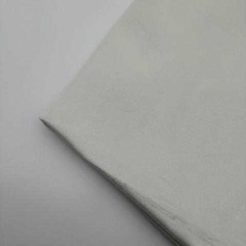 Бархат матовый стрейч, ворс 0,5 мм., 1 молочный (выбрать  размер)