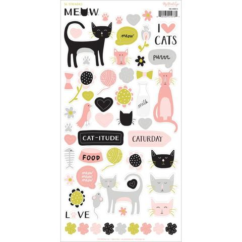 Стикеры  - Meow Stickers от My Mind's Eye -56 шт.