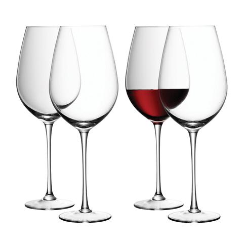 Набор из 4 бокалов для красного вина «Wine», 850 мл