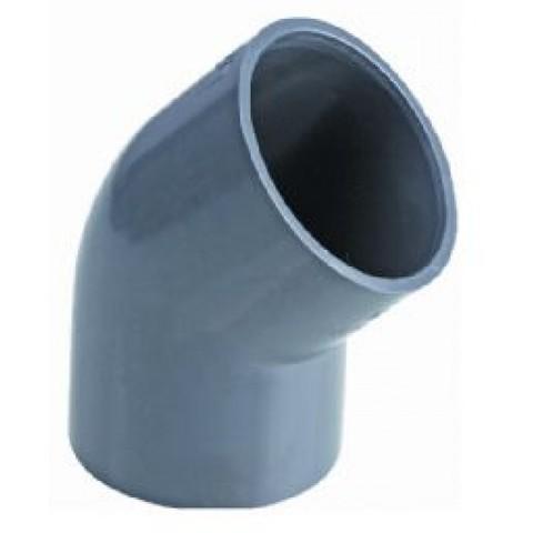 Угол 45 ПВХ диаметр 225мм 1,0 Мпа Pimtas