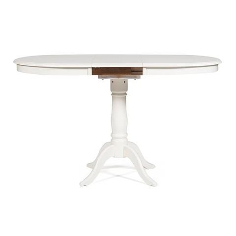 Стол обеденный Solerno овальный раскладной слоновая кость