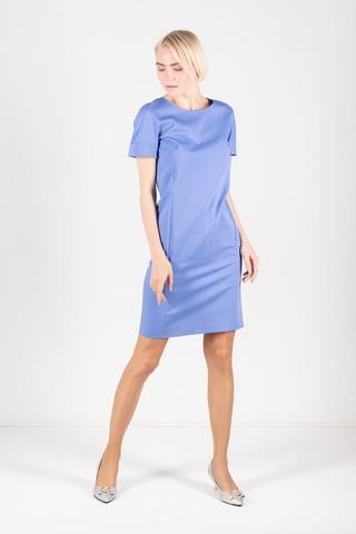 Фото голубое платье-футляр с цельнокроенным рукавом - Платье З277-924 (1)