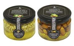 Набор (2 шт.) орехов в акациевом меду: кедровый и миндаль, 500 г