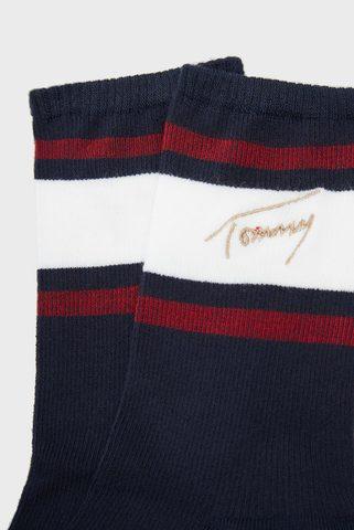 Женские темно-синие хлопковые носки Tommy Hilfiger