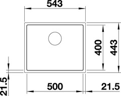 Мойка Blanco Subline 500-IF Антрацит - схема