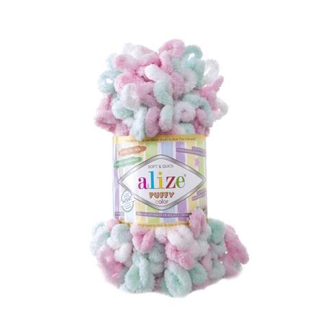 Купить Пряжа Alize Puffy Color Код цвета 6052 | Интернет-магазин пряжи «Пряха»