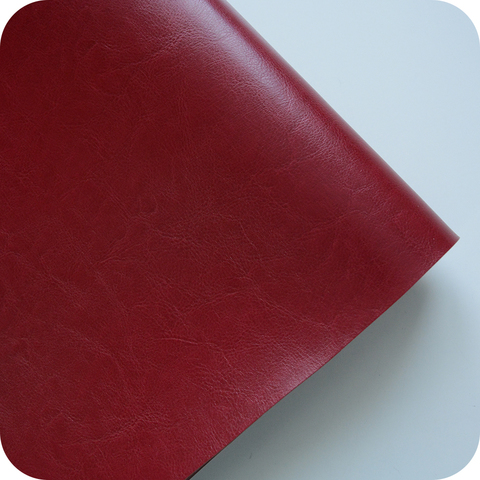 Кожзам переплетный глянцевый, темно-красный