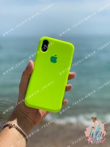 Чехол iPhone 6/6S Silicone Case Full /juicy green/