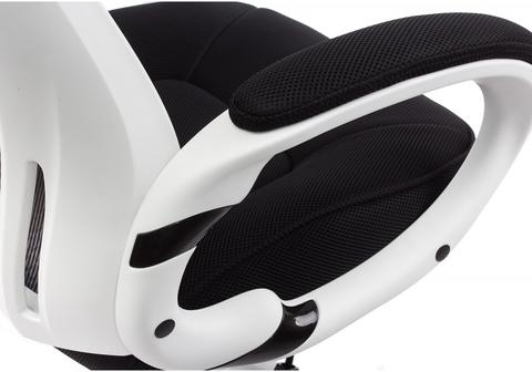 Офисное кресло для персонала и руководителя Компьютерное Burgos белое 69*69*122 Белый пластик /Черный