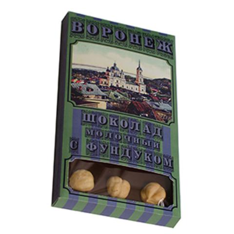 Шоколад Молочный с фундуком, 45%, 93гр., (Дизар)